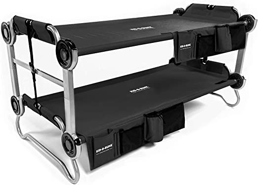 Disc-O-Bed Youth Kid-O-Bunk with Organizers (Black)