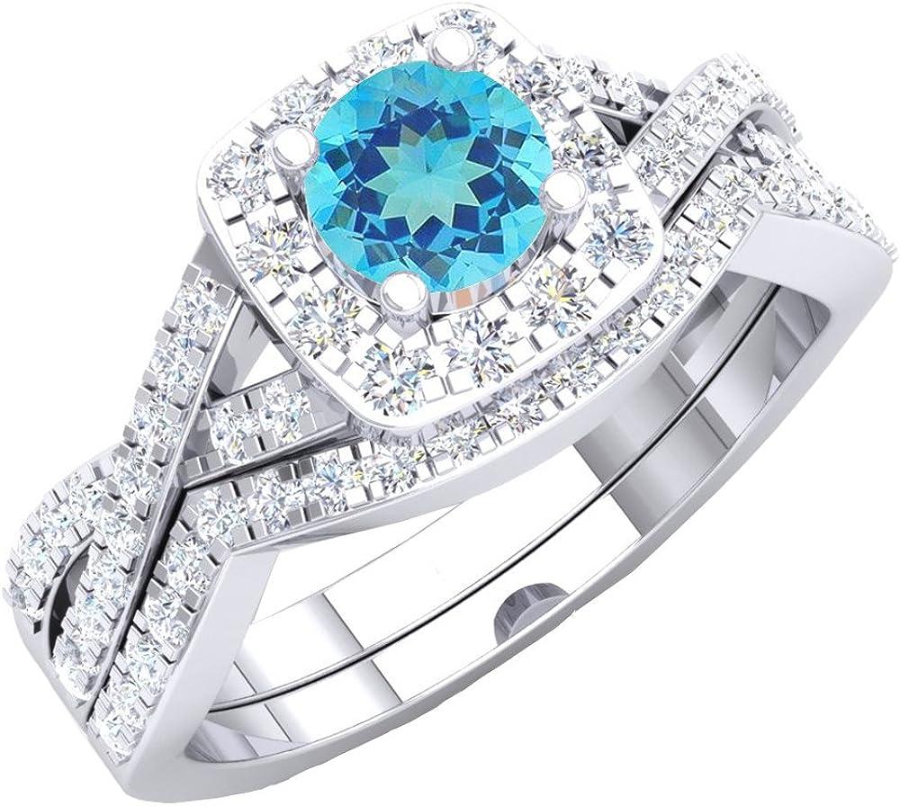 Dazzlingrock Collection 10K Round Max 56% OFF White Diamond Ladie Swirl Sale Halo