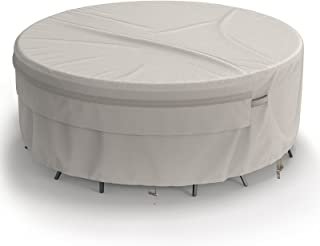 MR. COVER Round Patio Table Cover, Fits Bistro Table and Chairs Set, 52 Dia x 24 H Inches, Waterproof & UV-Protection, Neu...