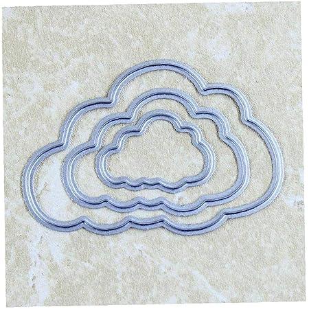 Youlin DIY Nuage Cutting Dies Scrapbooking Pochoirs M/étal Matrices De D/écoupe Album Timbre Papier Carte