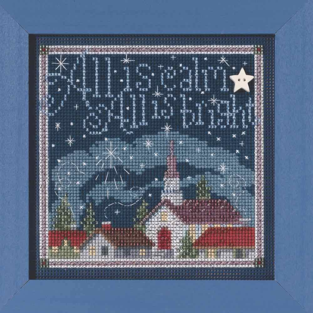 All is Calm Beaded Ranking TOP8 Counted Cross Kit Mill Reservation Hill Buttons Stitch