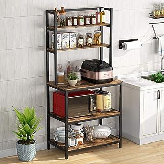 Support de four à micro-ondes de cuisine support de four à micro-ondes ustensiles de cuisine étagère de rangement utilitai...