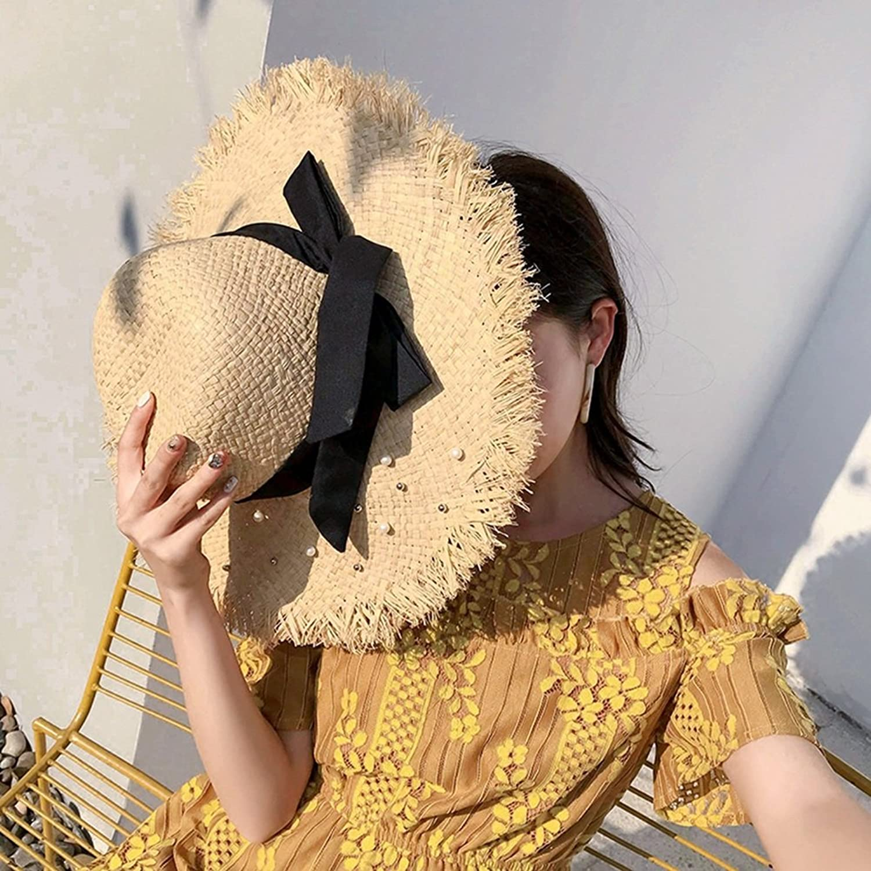 YD Hat Summer Hat, Sun Hat Women Straw Braid Sunscreen Foldable Wide Brim Leisure, 4 colors Optional    (color   1 )