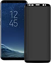 Galaxy S9 /S8 Privacy Screen Protector [Upgrade Version] [3D Curved ] Anti-spy Tempered Glass Screen Film 9H Hardness Anti-Scratch Anti-Peep Shield, For Samsung Galaxy S9 /S8
