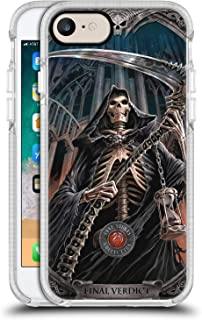 Official Anne Stokes Final Verdict Tribal White Shockproof Gel Bumper Case for iPhone 7 / iPhone 8