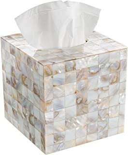 Best Creative Scents Tissue Box Cover – Decorative Square Tissue Holder is Finished in Beautiful Mother of Pearl Milano Collection Review