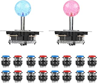 Ejoyous Arcade kit, arcade delay usb encoder arcade tillbehör för set spel USB-kabel LED-knapp