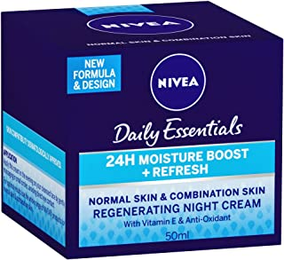 NIVEA Daily Essentials Refresh Regenerating Night Cream, 50ml