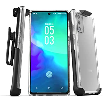 Encased Galaxy Note 20 Belt Clip Case (2020) Slim Clear Back Cover with Holster for Samsung Note 20