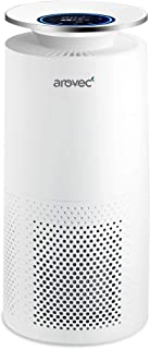 Arovec™ Smart Plus True HEPA Air Purifier, Air Quality Sensor, PM2.5 Display, 3-Stage Filtration System, Air Cleaner for A...