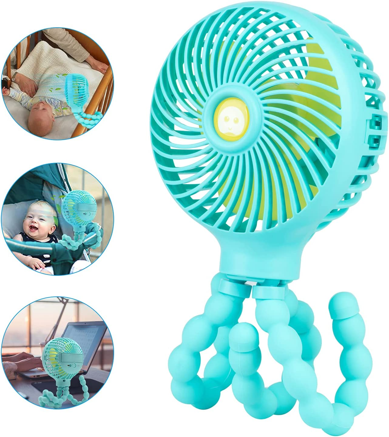 Car Seat Fans for Backseat Baby, Stroller Clip on Fan for Baby,USB Mini Battery Operated Handheld Fans for Baby Car Home Office Outside
