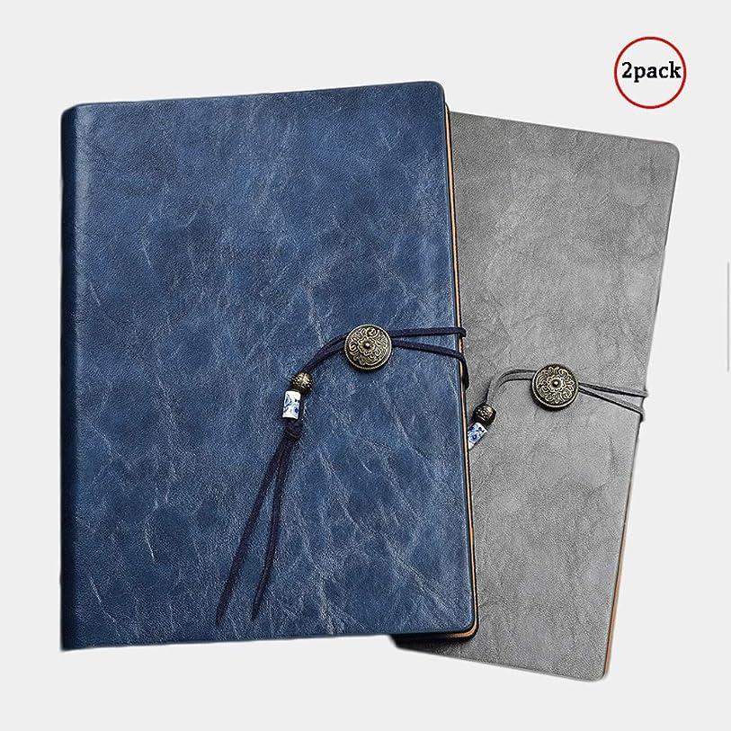 払い戻し全国証言ノート レザーポケットノートジャーナル、詰め替え可能トラベルジャーナルA5サイズ:9.3