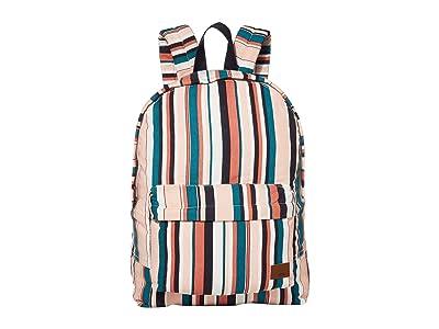 Roxy Sugar Baby Canvas Backpack (Mood Indigo Soul Stripes) Backpack Bags