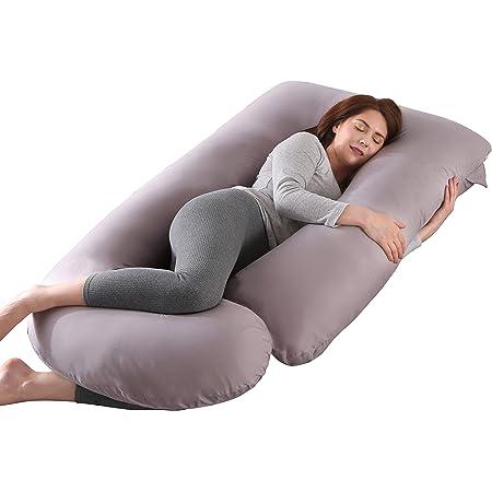 Rosado SHANNA Almohada de Embarazo,Almohada de Apoyo para Maternidad Almohada de Cuerpo Completo Apoyo Mejorado en Forma de G para Espalda,Caderas,piernas,Vientre Mujeres Embarazadas