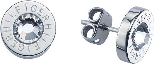 Tommy Hilfiger 2700259 - Pendientes de acero inoxidable con circonita