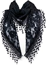 L Lace Scarf Womens Elegant Chiffon Embroidered Fashion Tassels Many Styles