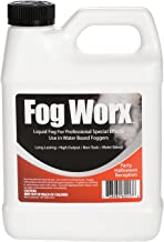 FogWorx Fog Juice - 1 Quart of Organic Odorless Fog Fluid (32 oz) - Medium Density, High Output, Long Lasting Fog Machine Fluid for 400 Watt to 1500 Watt Machines