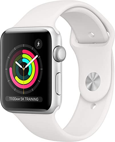 AppleWatch Series3 (GPS, 42mm) - Silver Aluminum Case with White Sport Band