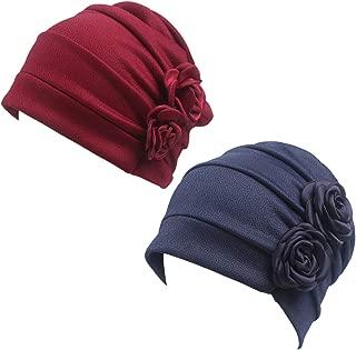 HONENNA Ruffle Chemo Turban Headband Scarf Beanie Cap Hat for Cancer Patient