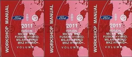 2011 Ford Fusion Lincoln MKZ Milan Hybrid Service Shop Repair Manual Set FACTORY (3 volume set)