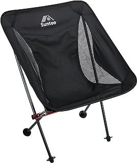 Suntoo アウトドアチェア 超軽量 イス ハイキング お釣り 登山 耐荷重 折りたたみ いす 専用収納袋つき チェア コンパクト 椅子 安定 耐荷重150kg