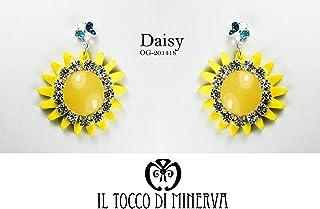 Orecchini gialli fiore cristallo swarovski Daisy - Realizzati a Mano - Made in Italy-HandaMade-Regali ragazza-Artigianale-...