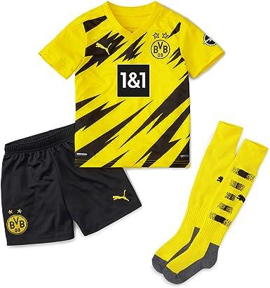 PUMA Mini Kit 1a Equipación 20/21 Replica Borussia Dortmund BVB Home Camiseta Unisex niños