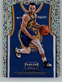 2018-19 Panini Threads Icon SP Dazzle Basketball #174 Stephen Curry Golden State Warriors Official Parallel NBA Trading Card