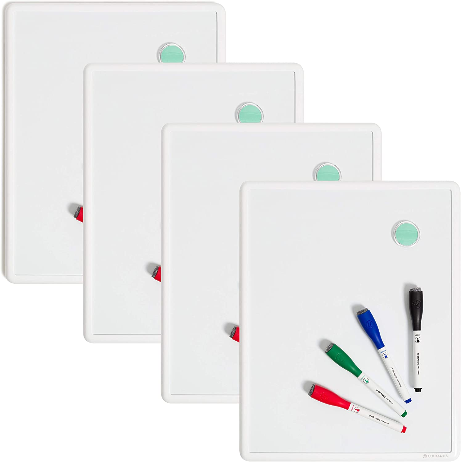 """U Brands Contempo Magnetic 11"""" x 14"""" Bundle B 4 Board Challenge the Bombing free shipping lowest price Erase Dry"""
