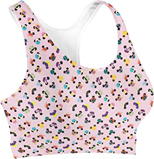 Rainbow Rules Disney Princess Mouse Ears Sports Bra - 2XL Pink