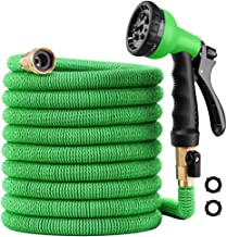 100 ft Garden Hose – Upgraded Expandable Water Hose Kit with 3/4 Solid Brass..