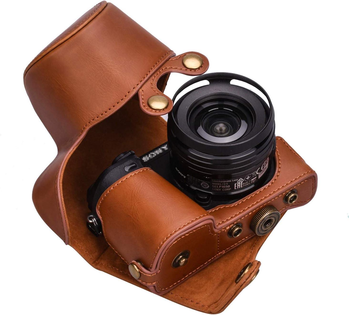 Xevn Sony A6300 Schutzhülle Sony A6000 Hülle Premium Pu Leder Kameratasche Für Sony Alpha A6300 A6000 Für 16 50 Mm Objektiv Kameragurt Und Handschlaufe Beauty