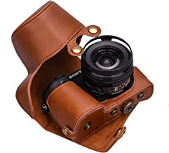 XEVN for Sony a6300 case,for Sony a6000 case,Premium PU Full Body Leather Camera Case Bag for Sony Alpha a6300 a6000 a6100 a6400 Fit 16-50mm Lens with Camera Shoulder Strap(Brown)
