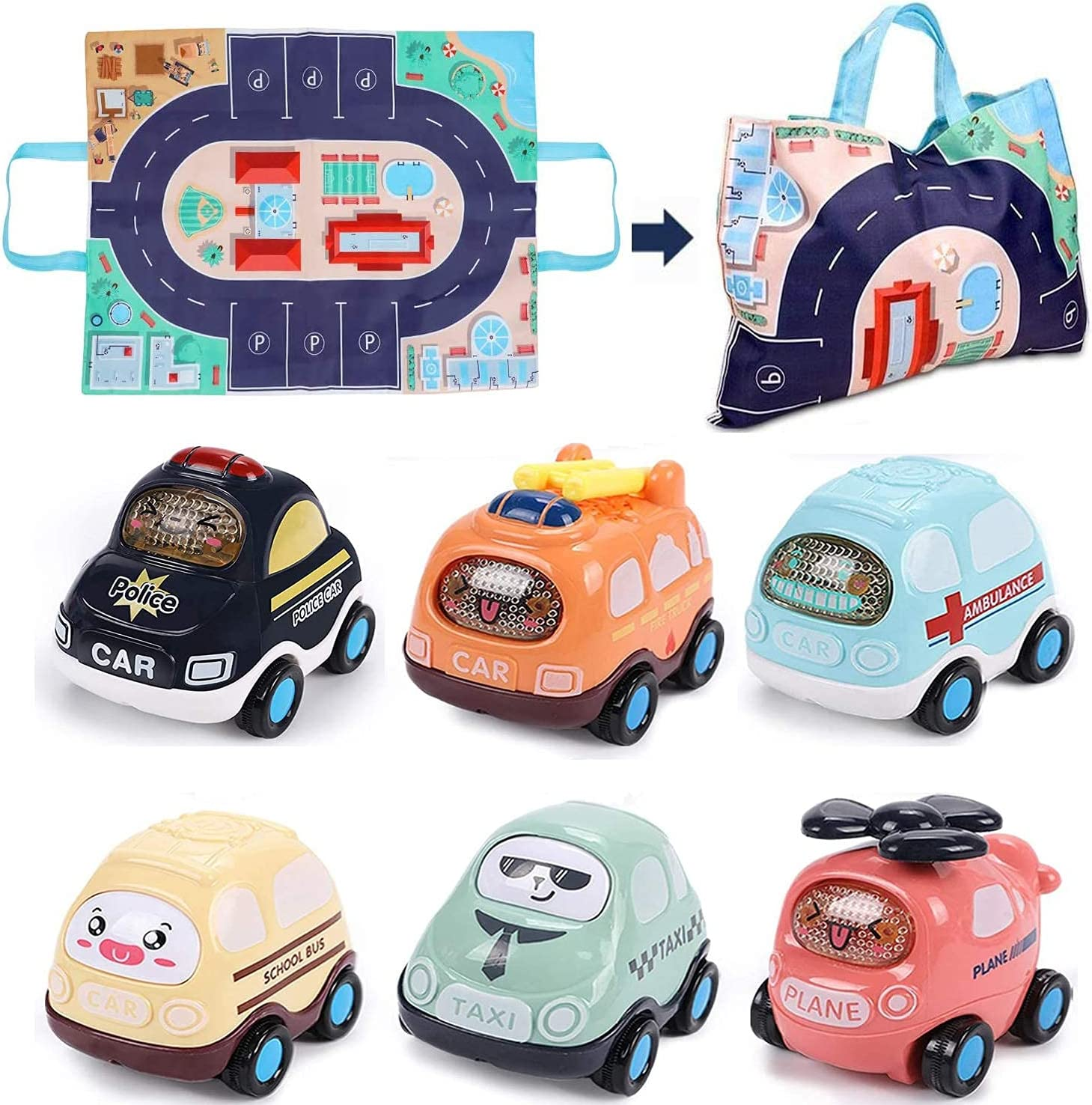 Baby Toy Cars for 1 Year Old Boy Todd Direct store and Vehicles Industry No. Push Go 6PCS