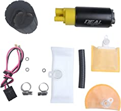 PLDDE New 1pc High Performance Electric Gas Intank EFI Fuel Pump With Strainer/Filter + Rubber Gasket/Hose + Stainless Steel Clamps + Universal Wiring Harness/Plug Pigtail Connector & Installation Kit
