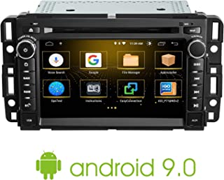Car Stereo DVD Player, Android 9.0 7 Inch DVD Player for GMC Chcvy Silverado with Double Din, Bluetooth Audio, Hands-Free Calling, USB Port, FM/AM Radio Receiver