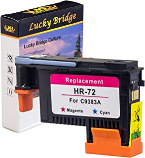 LKB Remanufactured HP72 printhead C9383A with New Updated Chips Replacement for HP Designjet T610 T620 T770 T790 T1100 T1120 1200 T1300 T2300 (1M/C) 1PK -US