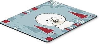 Caroline's Treasures BB1713MP Winter Holiday Bichon Frise Mouse Pad, Hot Pad or Trivet, Large, Multicolor