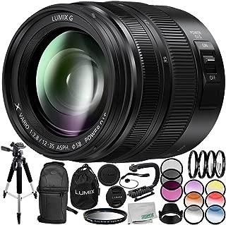 Panasonic Lumix G X Vario 12-35mm f/2.8 II Lens 14PC Accessory Bundle – Includes Manufacturer Accessories + 3 Piece Filter Kit (UV + CPL + FLD) + More