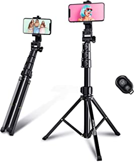 Selfie Stick Tripod, 59'' Phone Tripod Flexible Rotate Shooting Angle Bluetooth Remote for iPhone Android Go Pro DSLR Ring...