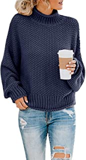 SVALIY Womens Oversized Turtlenecks Sweaters Batwing Long Sleeve Chunky Pullover Knit Jumper