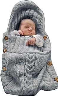 XMWEALTHY Newborn Baby Wrap Swaddle Blanket Knit Sleeping Bag Receiving Blankets Stroller Wrap...