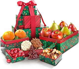 Golden State Fruit Holly Jolly Christmas Fruit Tower