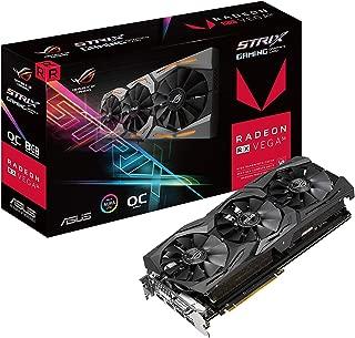 ASUS ROG-STRIX-RXVEGA56-O8G-GAMING 8GB OC Edition VR Ready 5K HD Gaming DP HDMI DVI AMD Gaming Graphics Card