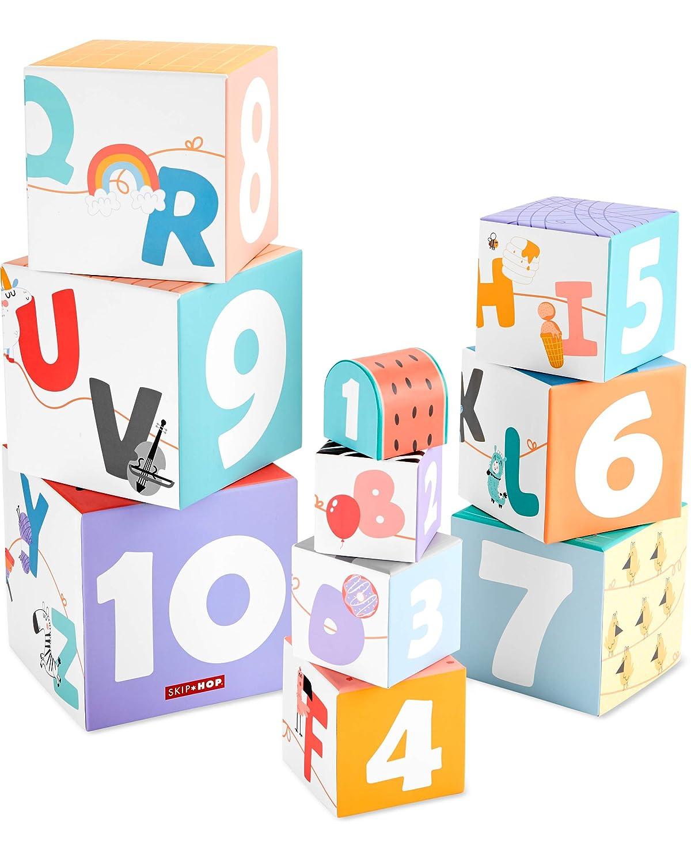 Skip Hop ABC & Me Infant Toy Nesting Blocks, Multi