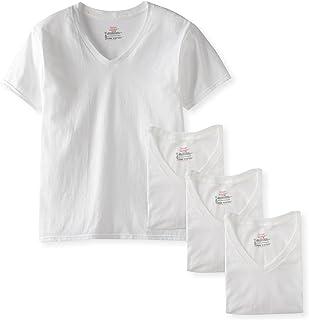 Hanes Men's 4-Pack FreshIQ V-Neck Shirt, White, X-Large Bulk Packaging