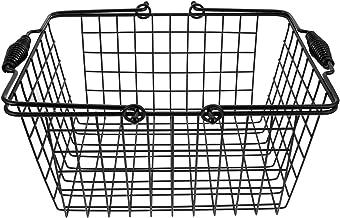 BESTonZON Metalowy kosz uniwersalny, metalowy, supermarketowy, żelazny kosz na owoce, kosz na warzywa, do kuchni, łazienk...