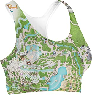 Rainbow Rules Blizzard Beach Map Sports Bra