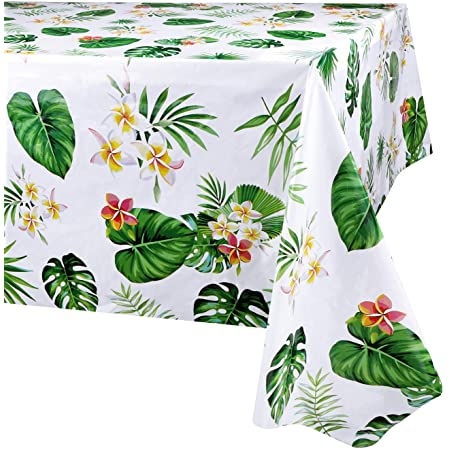 WERNNSAI Flamingo Tablecloth 108x 54 Tropical Luau Party Disposable Plastic Table Cover Pineapple Party Supplies for Kid Girl Picnic Birthday Party Decoration