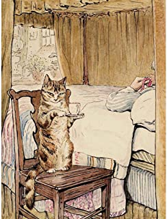 Wee Blue Coo Helen Beatrix Potter Simpkin At The Tailors Bedside Art Print Poster Wall Decor 12X16 Inch